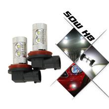 Buy 2pcs/lot H8 50W LED Fog Light High Power Cree Led Chip Parking Light Auto DLR Fog Bulb Car Styling xenon White Led Bulb 12V for $14.50 in AliExpress store