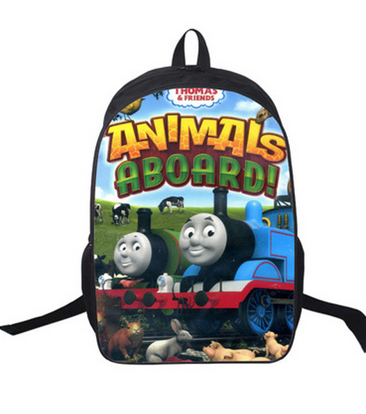 16 Inch Kids Backpack Thomas Train Edward Henry School Bags Mochila 3D Cartoon Orthopedic Children SchoolBags For Girls Boys(China (Mainland))