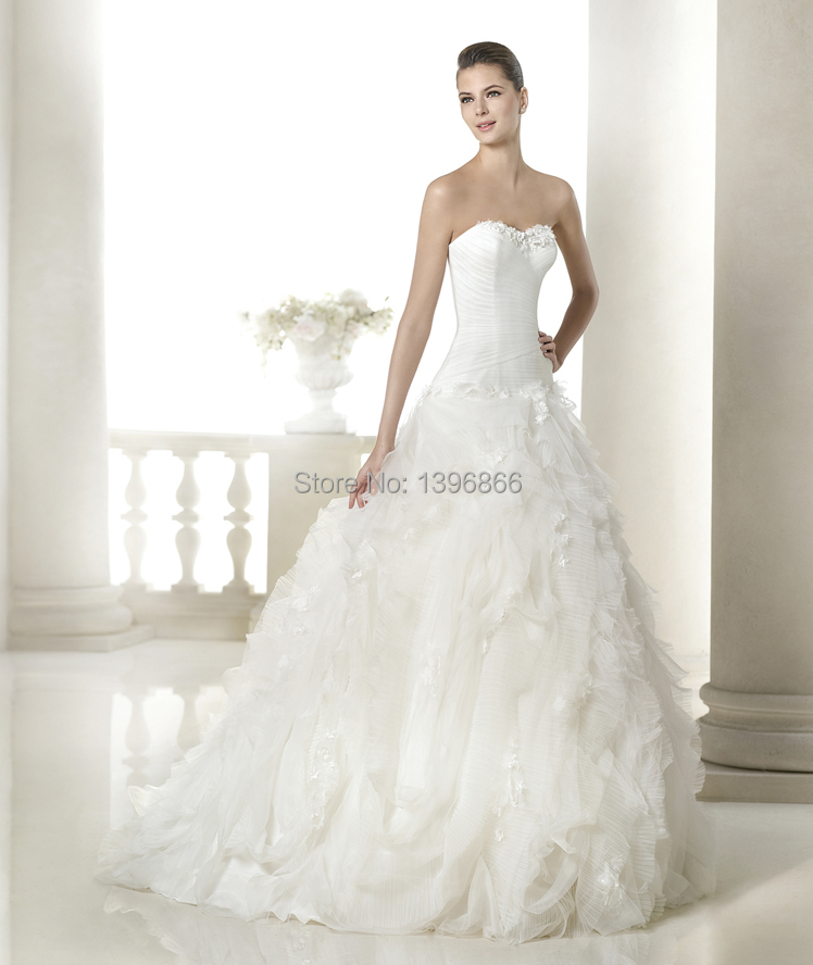 Beautiful Ball Gown Wedding Dresses: Free Shipping Romantic Most Beautiful Wedding Dress 2015