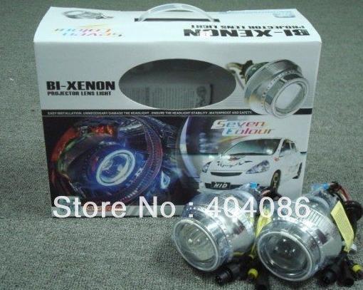 HID Projector Lens Bixenon Headlight Kit Lamp Bulb H1 H4 H7 9004 9005 9006 8000K+ CCFL Halo Angel Eye + 18 Month Warranty(China (Mainland))