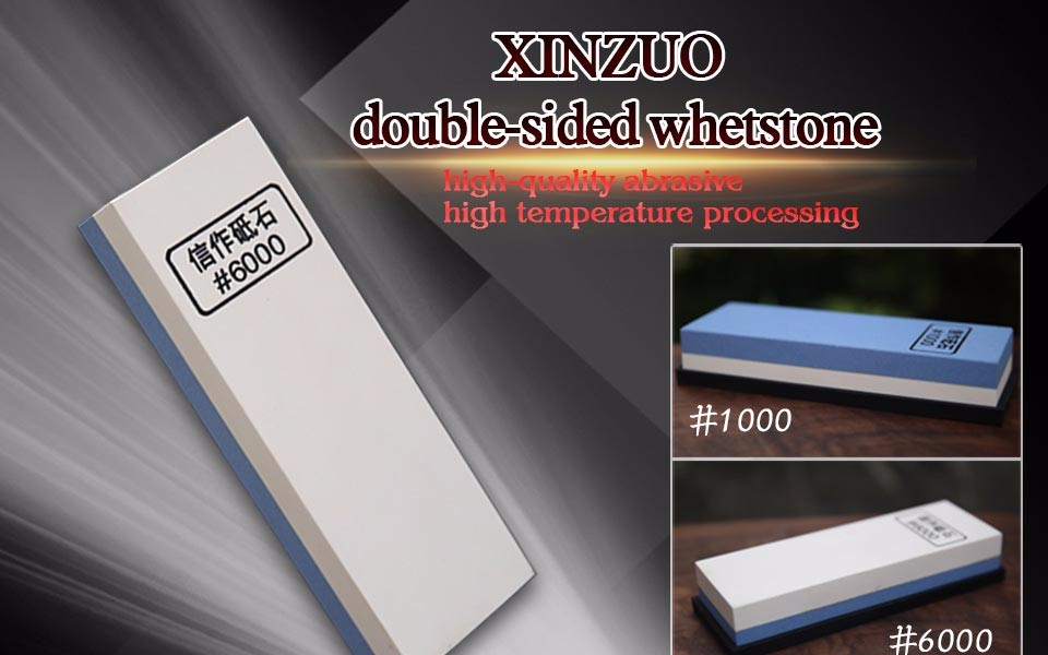 Buy 2016XINZUO double Side 1000/6000 Grit Professional Knife Sharpener Sharpening Grinding Stone Whetstone kitchen knife accessories cheap