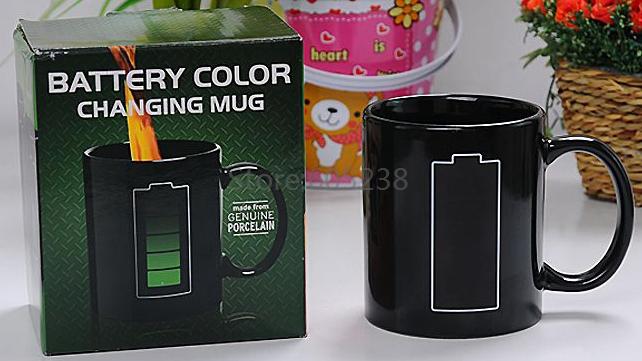 EMS Free shipping Wholesale 48Pieces Animated Battery Coffee Mug Color Changing Mug(China (Mainland))