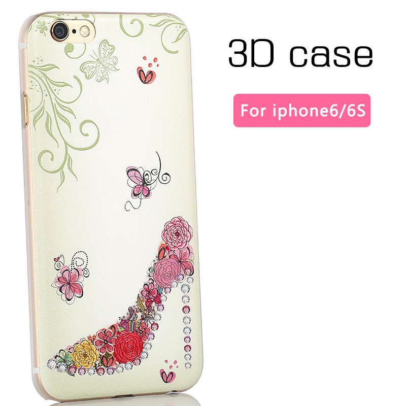 3D hard case cover iphone 6/6s 4.7 inch mobile phone ultra thin painted apple iphone6 back - Mobile phone's lover store
