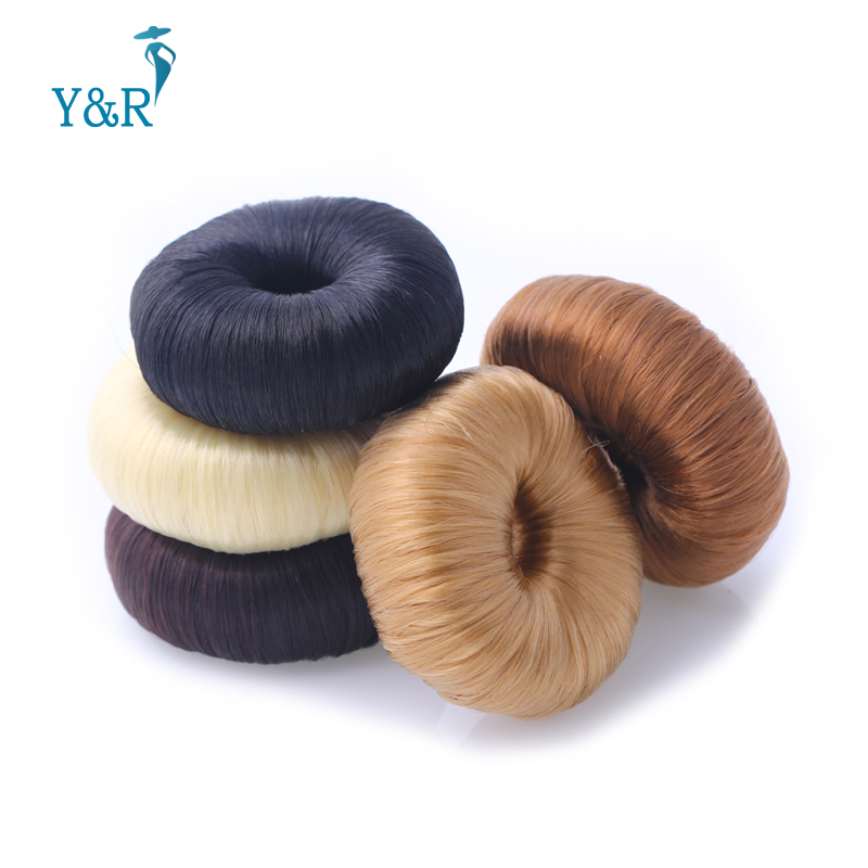 5 Colors Round Girls Women Korean Style Donut Hairpiece Hair Band Rope Coil Updo Maker Stretchy Hair Accessories(China (Mainland))