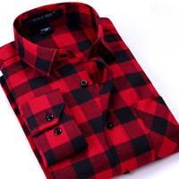 Мужская повседневная рубашка 2016