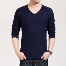 Solid Color Pullover Men V Neck Sweater Men Long Sleeve Shirt Mens Sweaters Wool Casual Shirt Brand Cashmere Knitwear Pull Homme(China (Mainland))