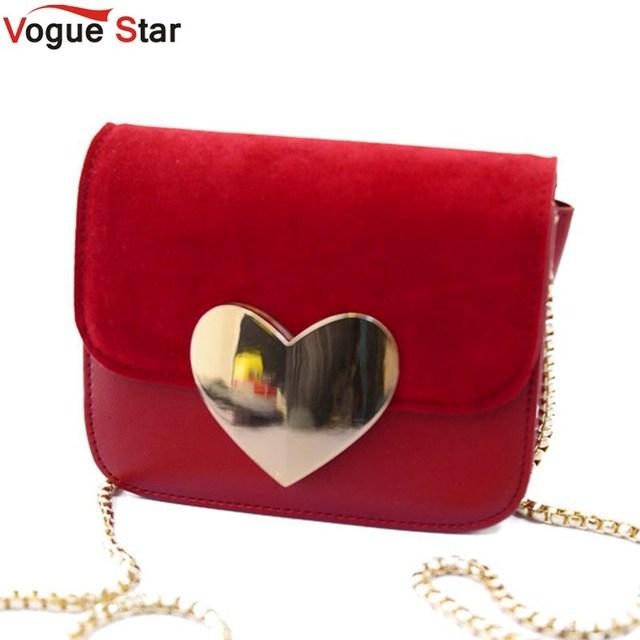 Моде звезда! Вечерняя сумочка персик сердца женщины искусственная кожа сумки цепь ...