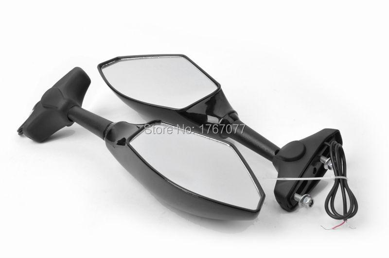 Купить Мотоцикл LED Поворотов Integrated Зеркала Зеркало Заднего Вида для Kawasaki Ninja ZX-6R Yamaha R6 R1 FZ6 FZ1