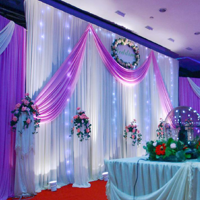 Buy wedding decoration 1 5 5m wedding for Background curtain decoration