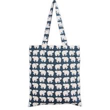 TANGIMP 2016 Canvas Bags Big White Bear in Blue Cotton Linen Eco Shopping Bags Totes kabelky boodschappentas Shoulder Handbags(China (Mainland))