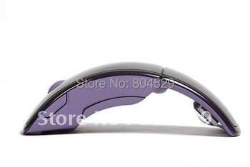 Foldable wireless portable Arc Mouse,Snap-in Transceiver,Brand new USB 2.4Ghz  Optical MS without wire,super  popular mini&slim