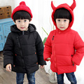 2016 Fashion Baby Boys Girls Clothes Winter Jacket Coats Kids Lovely ox horn design Hoodies Coat