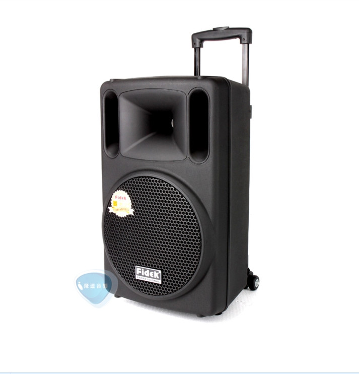 Fidek FD-T1000 card outdoor Professional speaker Portable rod WiFi mobile battery 10 inch(China (Mainland))