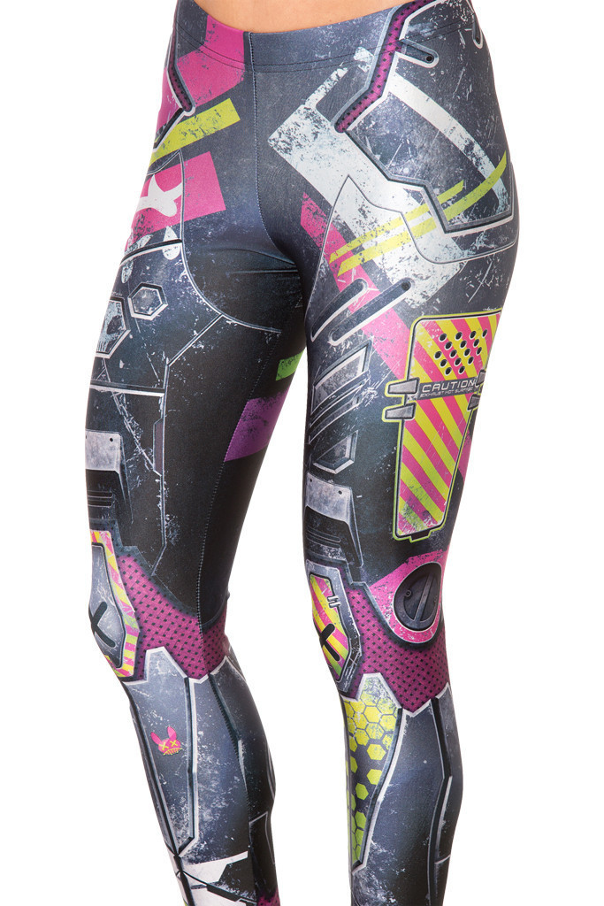 Women Fashion Leggings Woman 3D Robot Plate Armour Printing Skinny Pants Woman Slim Fit Vintage Basic Unique Design Leggings(China (Mainland))