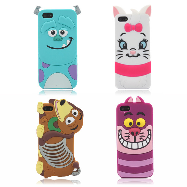 Hot Sale Cute 3D Cartoon Monster university Model Back Cover Soft Silicon Phone Bags & Cases For iphone 5 5G 5S Case S0101(China (Mainland))