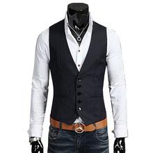 2015 new arrival 100% cotton suit vest men  fashion slim fitness Men's Waistcoat  blazer Tops dress vests for men