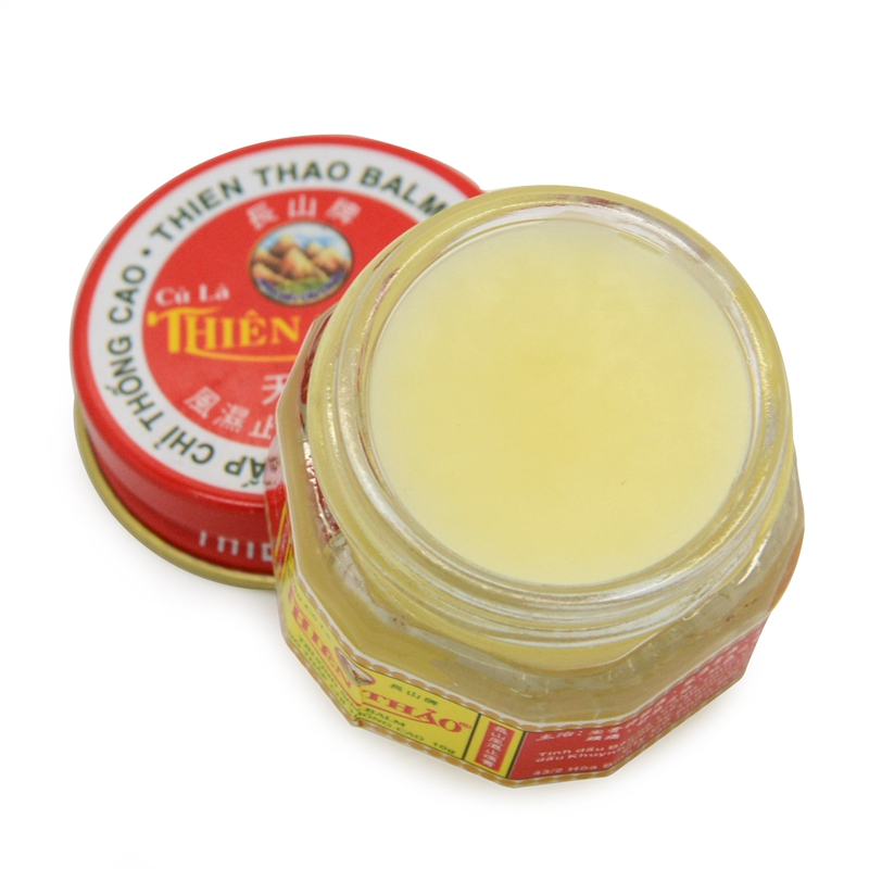 THIEN THAO Balm Oil Ointment Sciatica,Rheumatism,Muscle Aches,Headache,Stomachache,Sniffles,Insects Bites,Sprains Body Cream