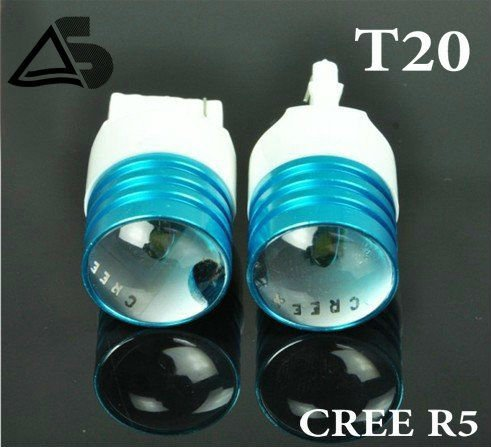 Freeshipping/2pcs/Car lights,CREE T20 LED Braking Reverse lights,Turn Signal Side Marker Car Tail Light fog Bulb R5