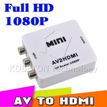 2015 Hot Mini Composite VCBS to AV2HDMI Audio Converter RCA/AV to HDMI Male to Female Adapter Converter  Switch Box 720P 1080P(China (Mainland))