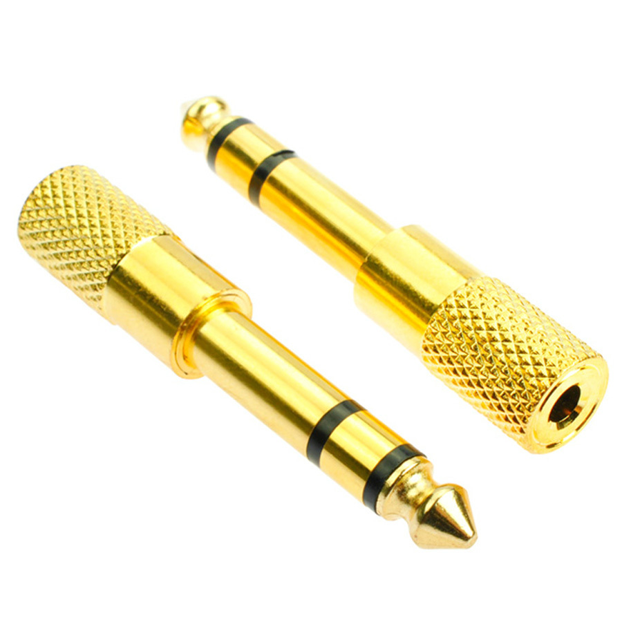 Gold Plated 6.5mm 1/4 inchMale plug 3.5mm 1/8 inchFemale Jack Stereo Audio Adapter Converter Earphone - Sainberry store