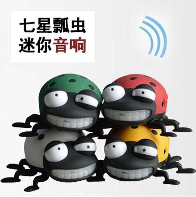 Coccinella mini cartoon sound portable card usb flash drive speaker radio webcasts(China (Mainland))