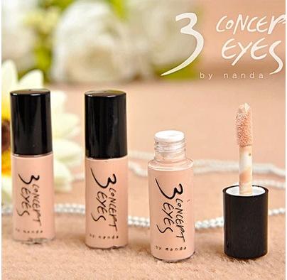 Free shipping 3 concept eyes black eye concealer corretivo facial lasting liquid foundation for makeup mac concealer primer(China (Mainland))