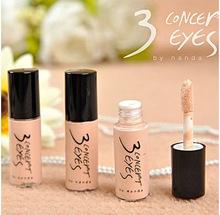 Free shipping 3 concept eyes black eye  concealer corretivo facial  lasting liquid foundation for makeup mac concealer  primer