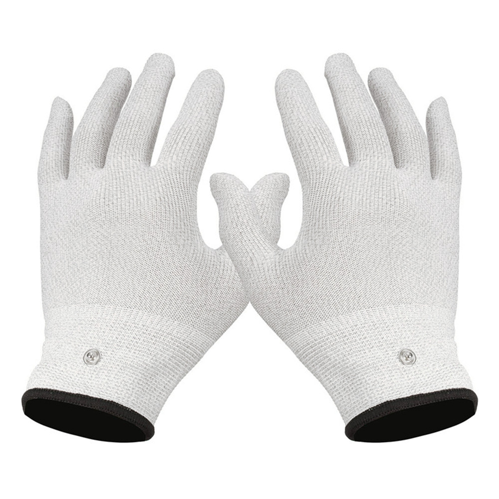 1 Pair Massage Relaxation Conductive Electrotherapy Electrode Gloves ...