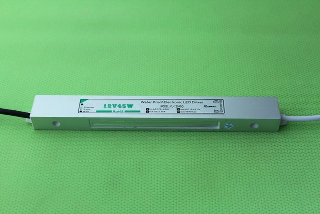 waterproof led power supply;AC90-250V input; 12V/45W output;IP68;CE and ROHS;
