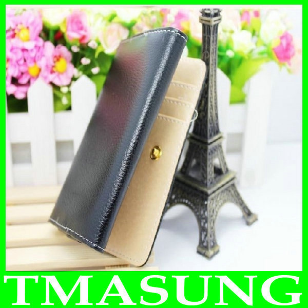 S5C Universal Wallet pu Leather Case Cover For Gionee GN868 GN878 newman n1 4.3 inch android phone 3 color(China (Mainland))