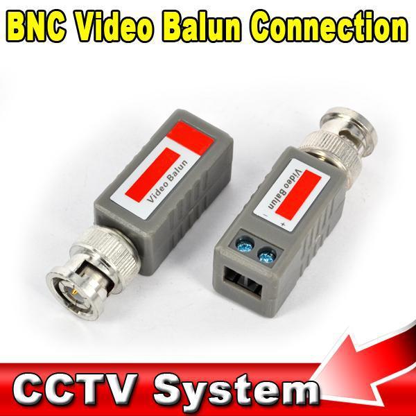 Hot 1pcs Twisted BNC CCTV Video Balun Passive Transceivers CCTV Camera BNC Video Balun Transceiver Network Up To 3000ft Range(China (Mainland))