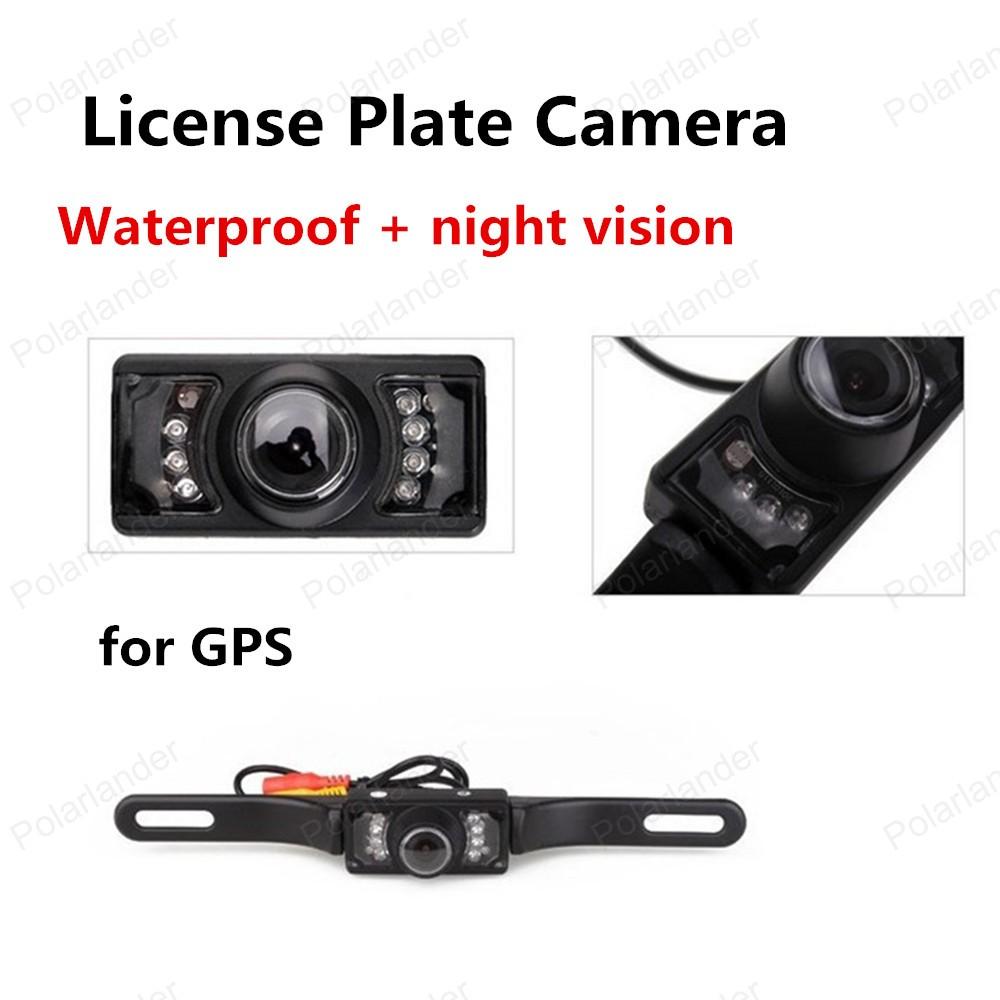 hot sell License Plate Frame Waterproof night vision Car Rear View Reversing Camera LED Power Display(China (Mainland))