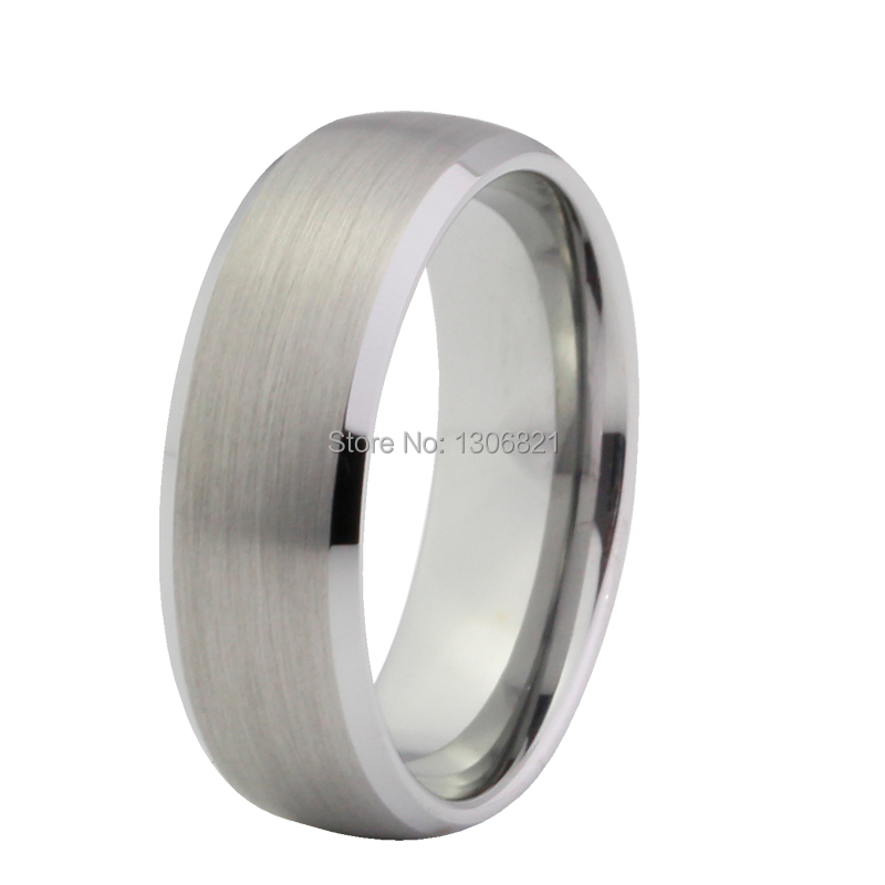 6MM best seller tungsten ring with brushed and beveled finish tungsten men wedding band(China (Mainland))