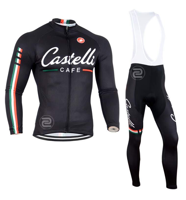 Spring Autumn Long Sleeves Cycling Jersey+Bib Pants / Sports Clothing Professional Bicycle Sport Clothes - Beautiful Jersey store