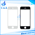 Black white replacement lcd touch digitizer screen glass for iphone 5 5S front outer glass lens