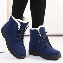 Ủng 2019 cổ điển gót da lộn nữ mùa đông giày lông ấm áp sang trọng Đế Trong mắt cá chân Giày Nữ Giày Nữ Hot Ren- lên giày người phụ n(China)