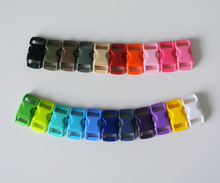 "(100pcs) 3/8"" (10mm) Webbing Plastic Side Release Contoured Buckles for Paracord Bracelet & Bag Accessory & Pet Collar 10 Colors(China (Mainland))"