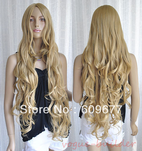 Long Golden Blonde Wig 35 Long Golden Blonde Spiral