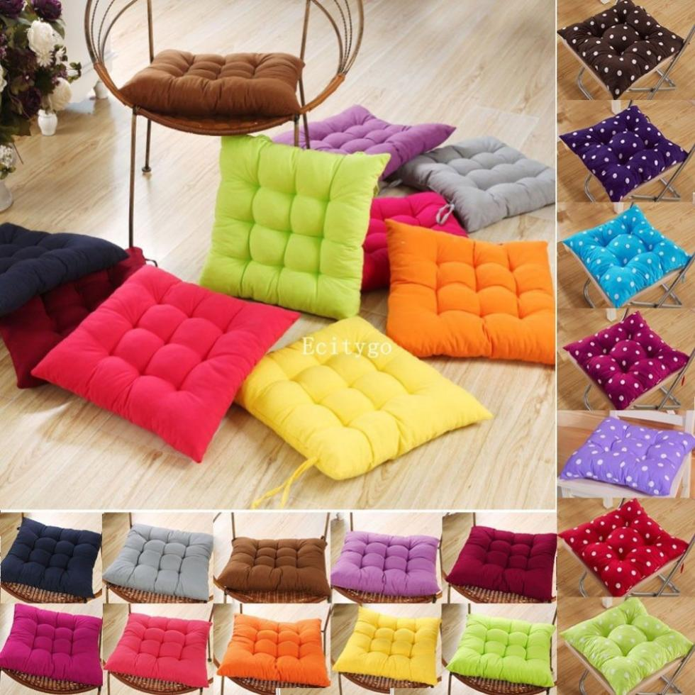 Hot New Quality Dining Garden Chair Seat Pad Upholstery Foam Tie Replacement Candy Color Cushions(China (Mainland))