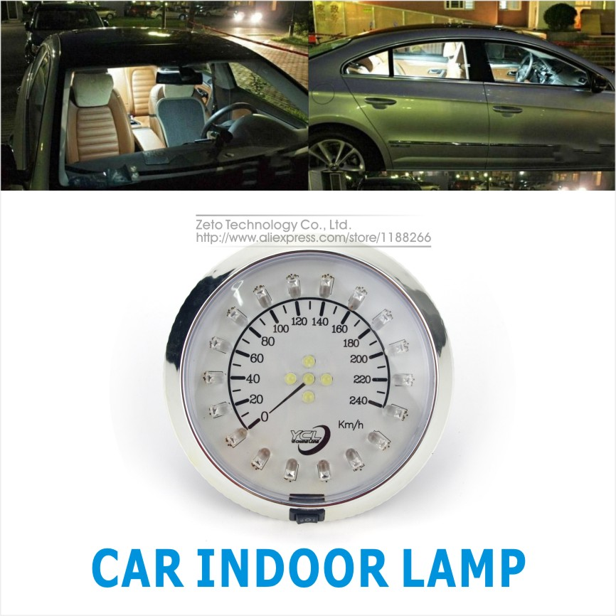 DC12V Car Dome Roof Ceiling Interior Led Dashboard Design Rooflight Indoor Read Light Lamp With Switch White Car Accessories(China (Mainland))