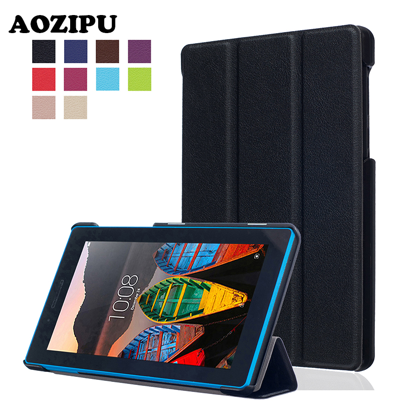 """Casual Solid PU Leather Stand Case Protective Funda Cover For Lenovo Tab3 Tab 3 7 730 730F 730M 730X TB3-730F TB3-730M 7"""" Tablet(China (Mainland))"""