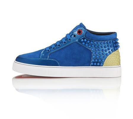 2015 new arrival royaums lace up lambskin casual shoes women rivets Blue high top genuine leather