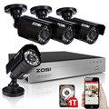 ZOSI 720P CCTV Security Camera System 1TB HDD CCTV Camera System 8CH AHD DVR 4 720P