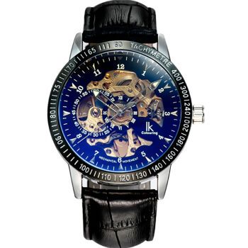 IK Colouring Skeleton Dial Auto Mechanical Men's Wristwatch Male Automatic Watch Reloj Masculino Montre Homme 98226G(China (Mainland))
