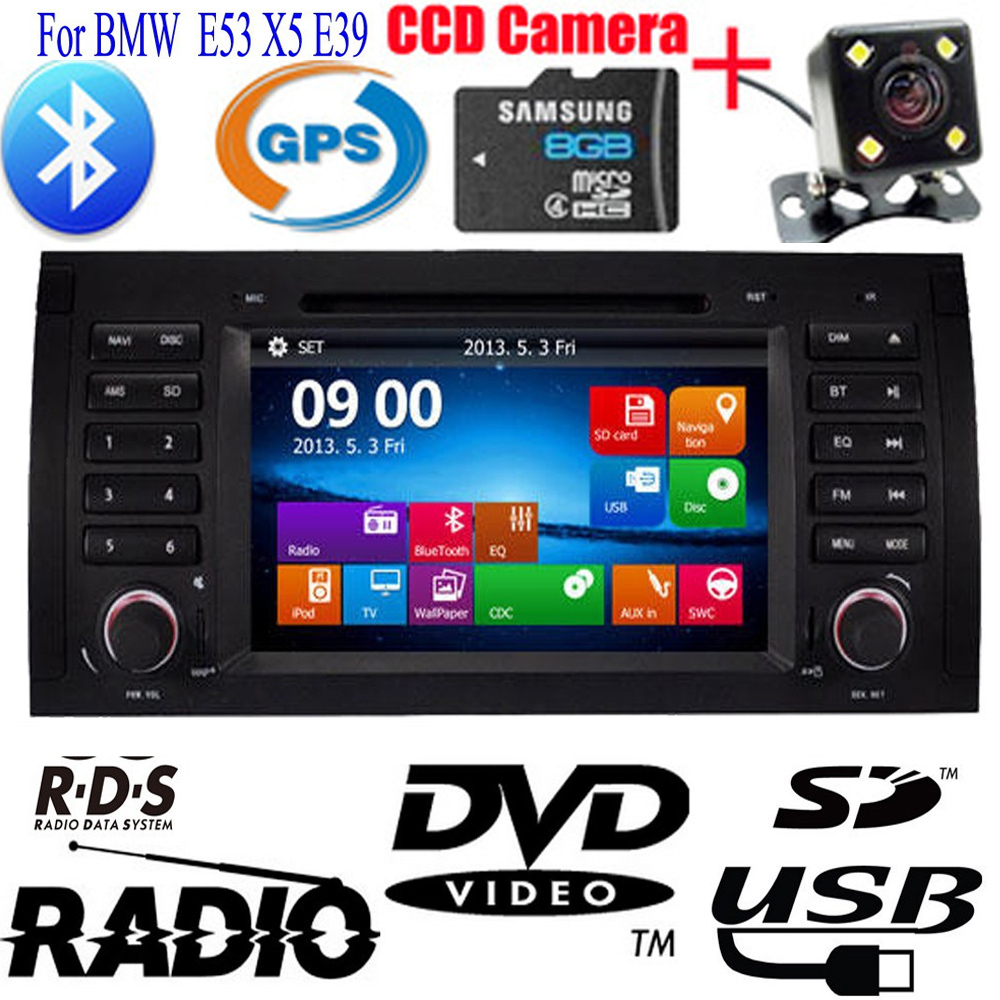 Double 2 Din Car DVD CD Player For BMW E53 X5 E39