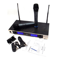 Professional UHF Wireless Microphone Karaoke System Dual Handheld Mic Transmitter KTV 2 Channel LED Cordless Mike