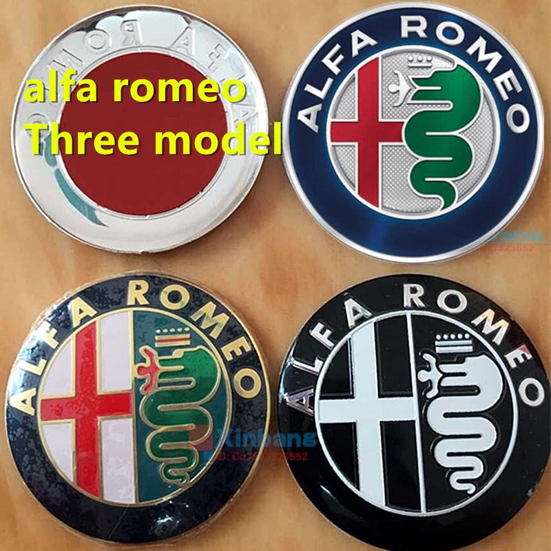 Specials sale Black white 7.4cm ALFA ROMEO Car Logo emblem Badge sticker Mito 147 156 159 166 log - Xinbang CO,.LTD store