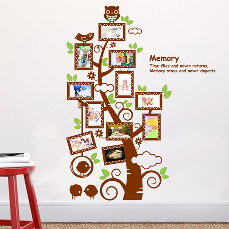 120 90cm kamer stamboom fotolijst decoratie muur sticker sticker poster op een muur stickers - Muur decoratie volwassen kamer ...