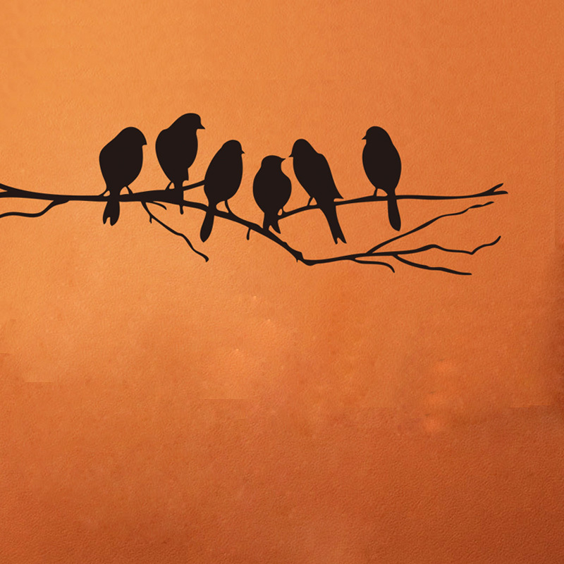 Black Birds Tree DIY Wall stickers home decor Removable Sticker Home decoration living room - LEMON'S HOME store