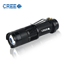 Portable Waterproof Aluminum CREE Q5 1000LM LED Flashlight 3 Modes Zoomable Torch lights Laser Flashlight For Outdoor lighting(China (Mainland))